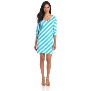 Lily Pulitzer Eliza dress Turquoise Roper Stripe M